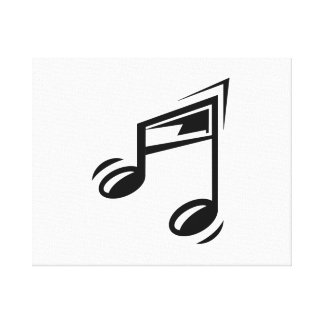 Musical Notes Gallery Wrapped Canvas