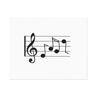 Musical Notes Stretched Canvas Print