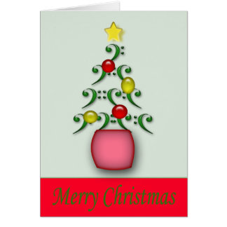 Musical Notes Christmas Card - Customized
