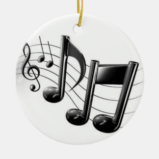 """MUSICAL NOTES"" CHRISTMAS (OR ANYTIME) ORNAMENT"