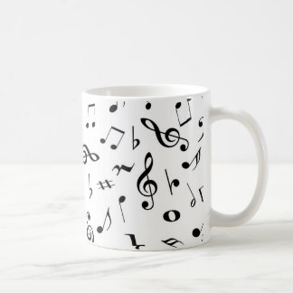 musical notes coffee mug