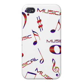 Musical Notes-Colorful iPhone 4 Cover