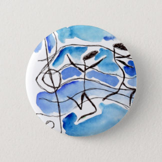 Musical Notes Come to Life Music Adds Joy to Life 6 Cm Round Badge