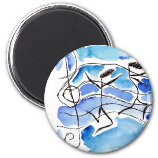 Musical Notes Come to Life Music Adds Joy to Life 6 Cm Round Magnet