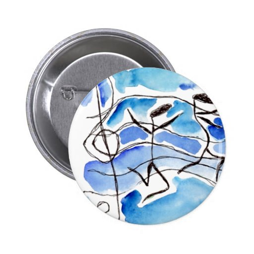 Musical Notes Come to Life Music Adds Joy to Life Pin