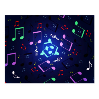 Musical Notes Design Postcard