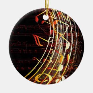 Musical Notes Design Round Ceramic Decoration