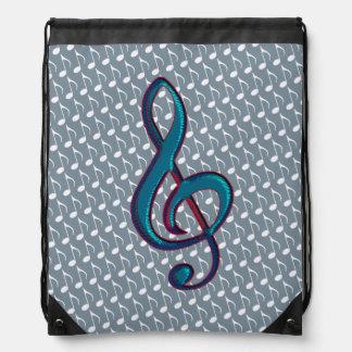 musical notes drawstring backpacks