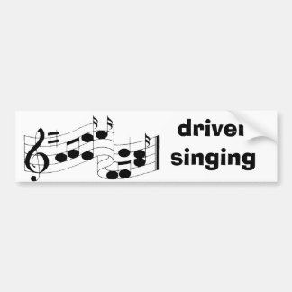 musical notes, driver singing bumper sticker