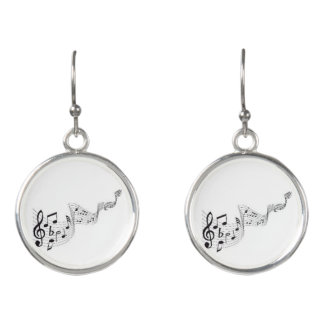 Musical Notes, Drop Earring Earrings