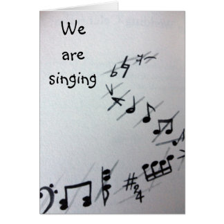 MUSICAL NOTES GROUP BIRTHDAY CARD