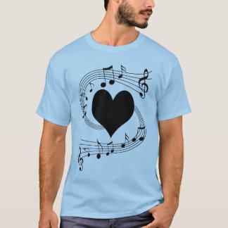 Musical notes heart T-Shirt