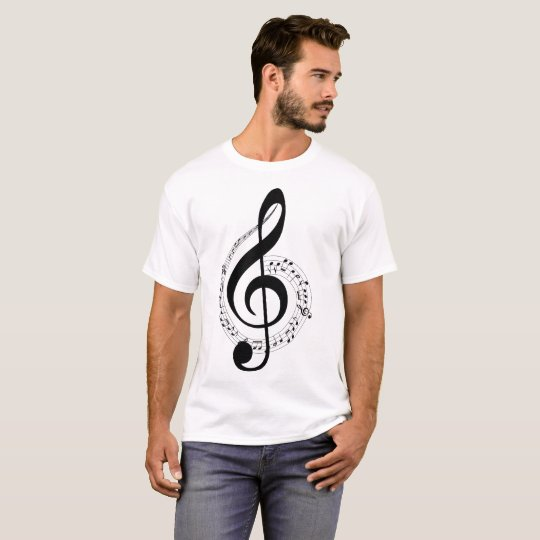 """Musical Notes"" Illustration T-Shirt"