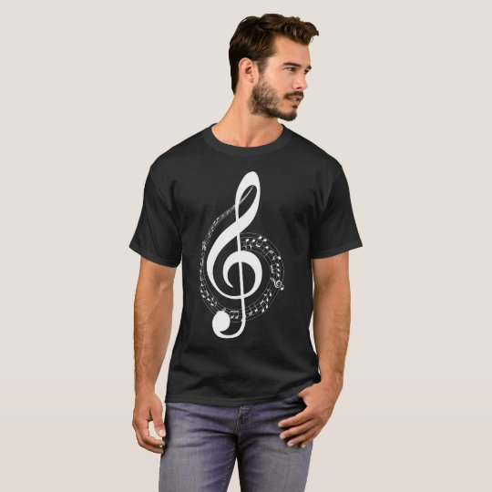 Musical Notes Inverse Illustration T-Shirt