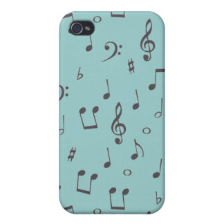 Musical Notes iPhone 4 Cases