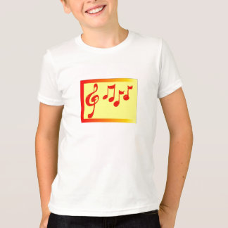 musical notes kids shirt