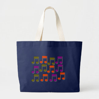 Musical Notes Large Tote Bag