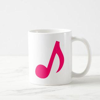 Musical notes coffee mugs