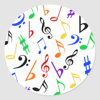 Musical Notes Music Stickers - Multi