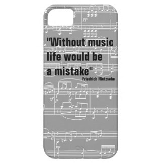 musical notes & music-themed quote barely there iPhone 5 case