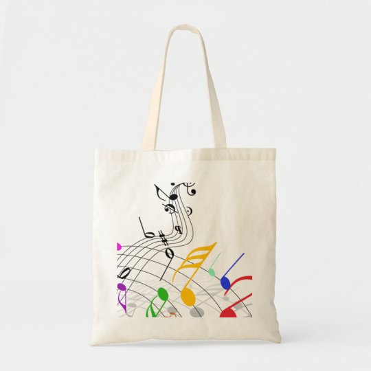 musical notes n staff tote bag