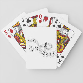 Musical Notes On A Staff Line Playing Cards