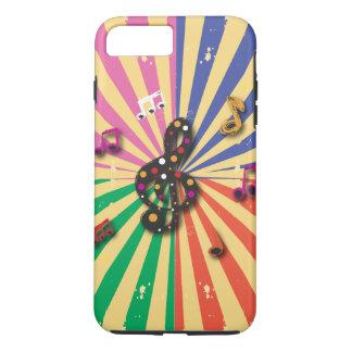 Musical Notes on Sunsplash Background iPhone 7 Plus Case