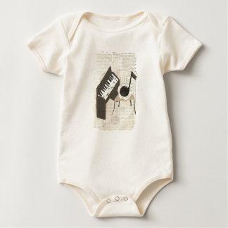 Musical Notes Organic Babygro Baby Bodysuit
