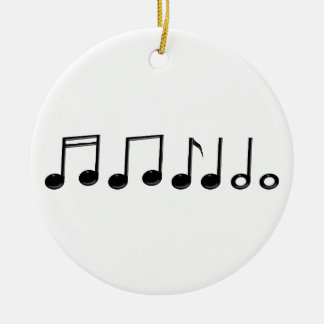 Musical Notes Ornament Round