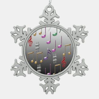Musical notes pattern christmas ornament
