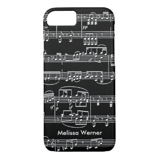 musical+notes personalized iPhone 7 case