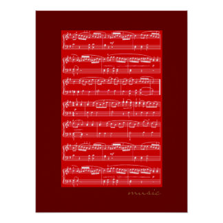 musical notes print for walls