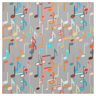 Musical Notes print - Medium Grey, Multi Fabric