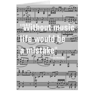 musical notes & quote greeting card