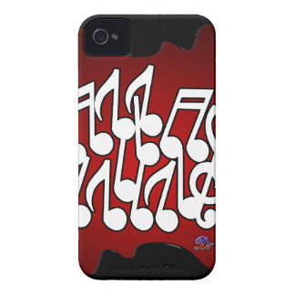 MUSICAL NOTES RED BACKGROUND PRODUCTS iPhone 4 COVERS