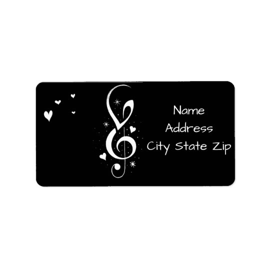 **MUSICAL NOTES** RETURN ADDRESS LABELS
