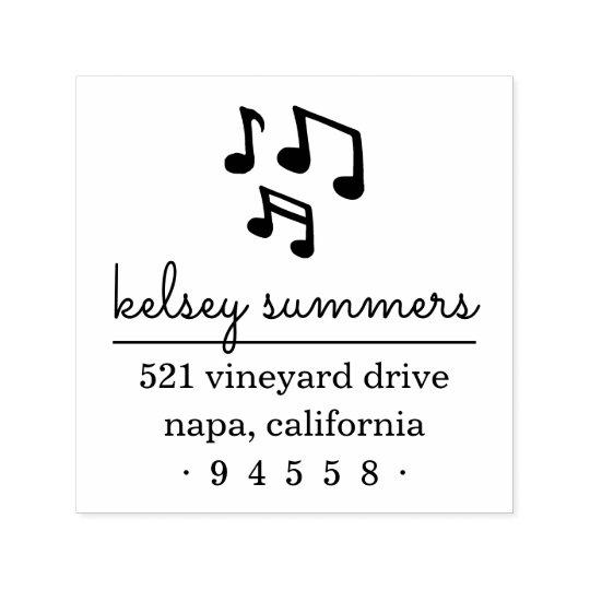 Musical Notes Return Address Stamp