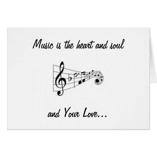 MUSICAL NOTES SENDING LOVE ON OUR WEDDING DAY
