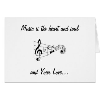 MUSICAL NOTES SENDING LOVE ON OUR WEDDING DAY GREETING CARD