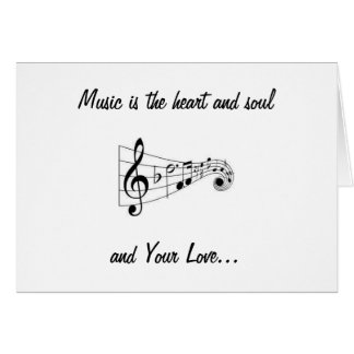 MUSICAL NOTES SENDING LOVE ON YOUR BIRTHDAY GREETING CARD