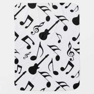 Musical Notes - Sheet Music Design Baby Blanket