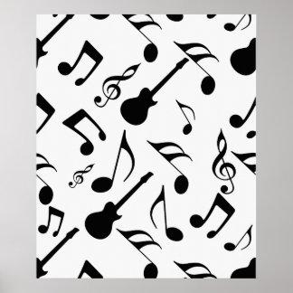 Musical Notes - Sheet Music Design Poster