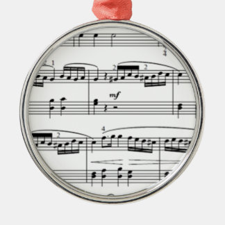 musical notes Silver-Colored round decoration