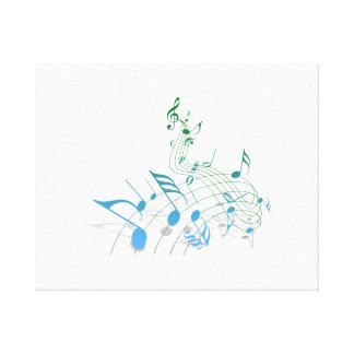Musical Notes Stretched Canvas Prints