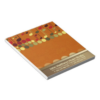 Musical Notes Texture Personalise-it Notepad