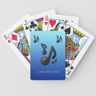 Musical Notes with funny slogan Bicycle Playing Cards
