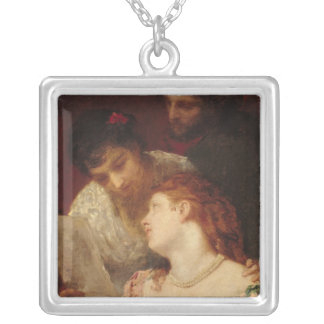Musical Party, 1874 Silver Plated Necklace