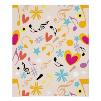 Musical Pattern in Abstract Poster