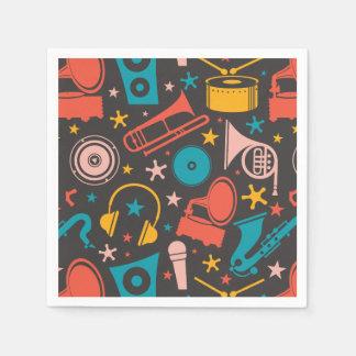 Musical Pattern - Instruments Disposable Serviette
