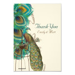 Musical Peacock Bird Cage Feather Wedidng Invitate 9 Cm X 13 Cm Invitation Card